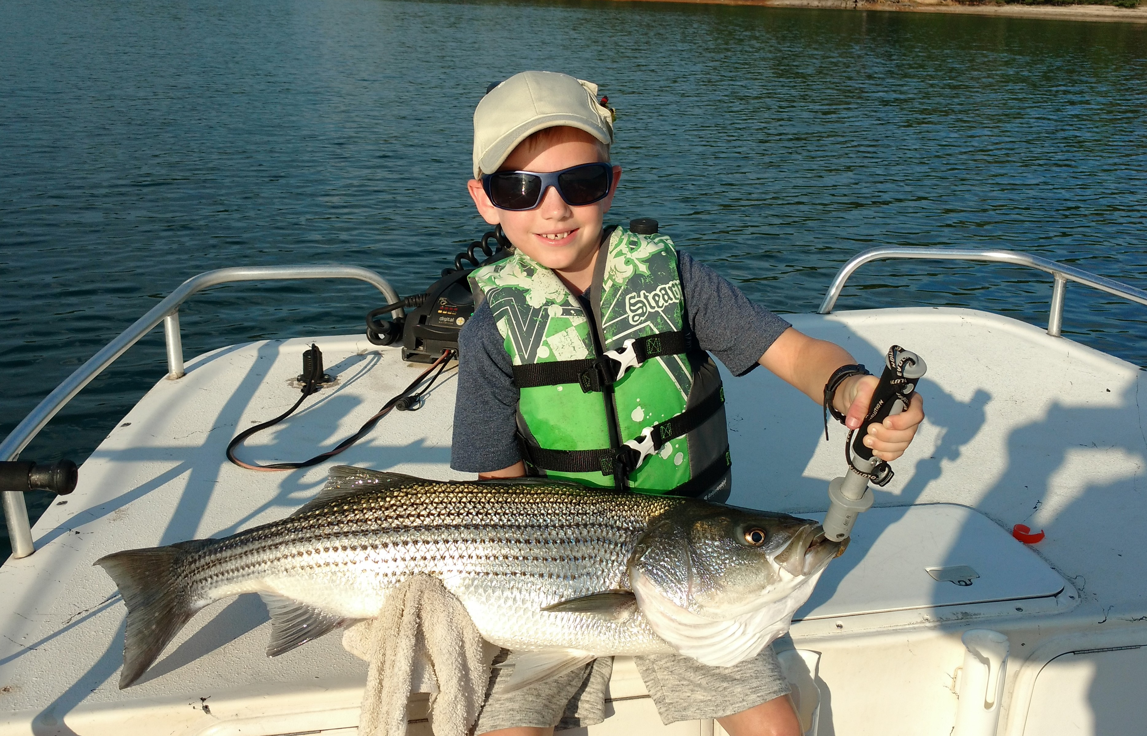 July 21st 2016 lake lanier striper fishing report lake for Lake lanier striper fishing